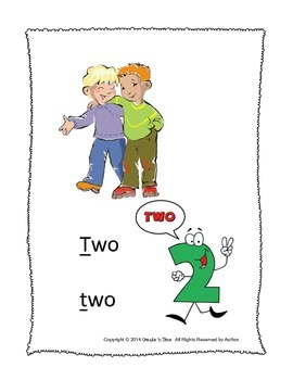 ALPHABET BOOK for LETTER T Letter-Sound-Object Recognition Activities