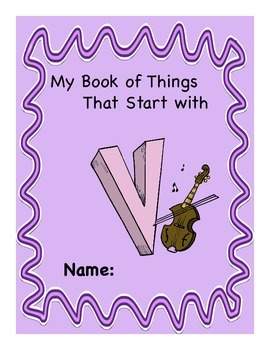 ALPHABET BOOK for LETTER V Letter-Sound-Object Recognition