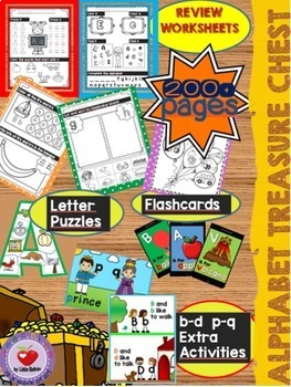 ALPHABET BUNDLE (An alphabet treasure chest for the whole year) DISTANCE LEARNIN