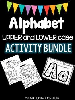 ALPHABET Activities BUNDLE: Letter Identification Practice, PRINT and GO