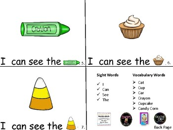 ALPHABET Booklets Letter Cc-Vocabulary-Sight Words-I can see Cc Words