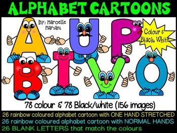 ALPHABET LETTER PEOPLE CARTOON CLIP ART GRAPHICS