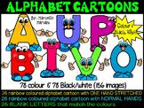ALPHABET CLIPART- ALPHABET PEOPLE CARTOON CLIPART (capital letters)