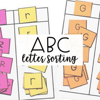 ALPHABET CENTERS: Letter Sorting