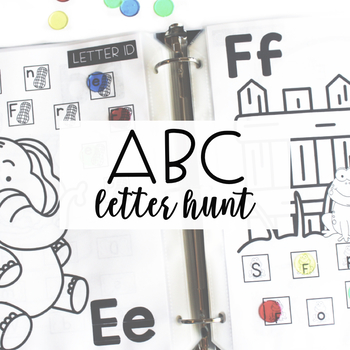 ALPHABET CENTERS: Letter Hunt
