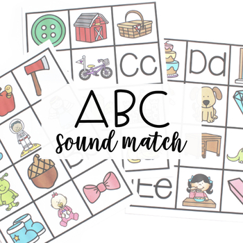 ALPHABET CENTERS: Sound Match