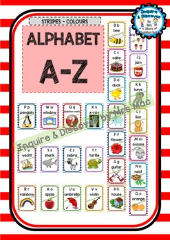 Back To School - ALPHABET CHART - Classroom Decor - Posters