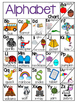 ALPHABET CHART with different initial vowel sounds