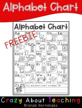 ALPHABET CHART-FREEBIE