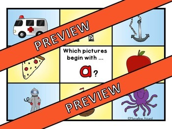 ALPHABET CLIP CARDS: BEGINNING SOUNDS ACTIVITY: ALPHABET CENTERS