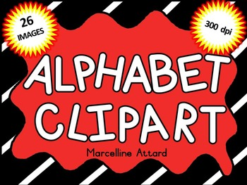 ALPHABET CLIPART: BLACK AND WHITE CLIPART ALPHABET: ALPHAB