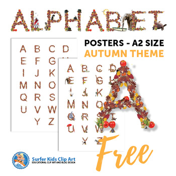 ALPHABET : 2 POSTERS WITH FALL THEME