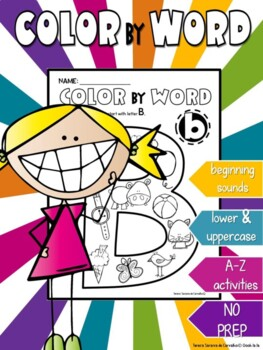 ALPHABET - COLOR  BY WORD - BEGINNING SOUNDS