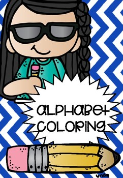 ALPHABET COLOURING PAGES ! FREEBIE