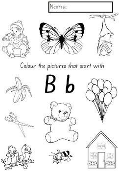 ALPHABET COLOURING activities Kindergarten (NSW Foundation Font)