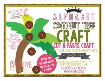 ALPHABET Coconut Tree Craft