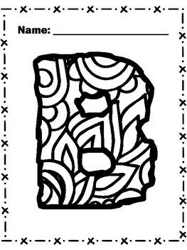 ALPHABET Coloring Pages / Alfabeto para colorear