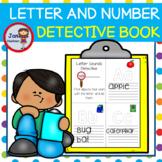 EDITABLE TODDLER Letter Sounds and Number Recognition Dete