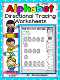 ALPHABET PRESCHOOL DIRECTIONAL TRACING PRACTICE WORKSHEETS