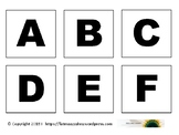 ALPHABET FLASH CARD BLACK COLOUR