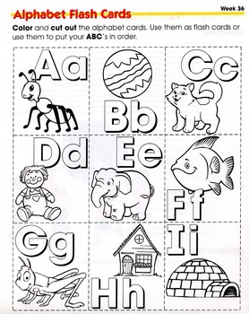 ALPHABET FLASH CARDS A TO I