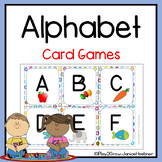 ALPHABET CARD GAMES *memory, flash cards and matching games*