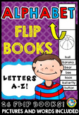 ALPHABET BOOKS (KINDERGARTEN ALPHABET ACTIVITIES) BEGINNING SOUNDS FLIP BOOKS