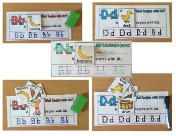 ALPHABET FLIP BOOKS-WRITING AND TRACING PRACTICE BOOKS- BW & color
