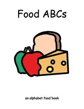 ALPHABET FOOD Adapted BOOK, AUTISM, Speech Therapy, ELL