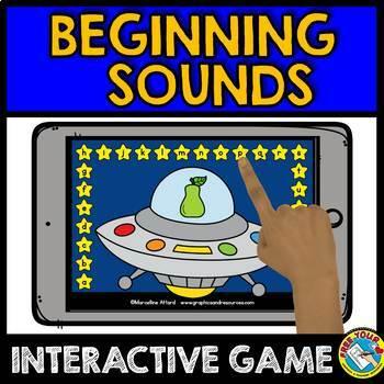ALPHABET ACTIVITY FOR KINDERGARTEN (BEGINNING SOUND GAME KINDERGARTEN BOOM CARDS