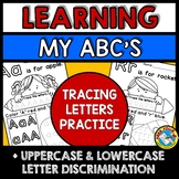 PRESCHOOL ALPHABET LETTER TRACING WORKSHEETS WRITING PRACTICE A-Z KINDERGARTEN