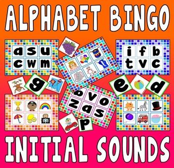 ALPHABET INITIAL SOUNDS BINGO GAME - PHONICS ENGLISH