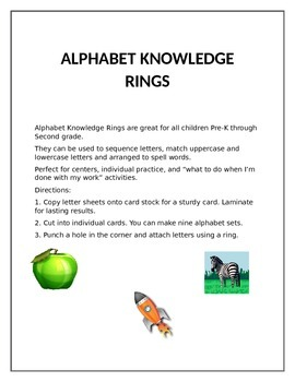 ALPHABET KNOWLEDGE RINGS