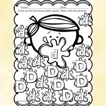 """Alphabet Letter of the Week """"Letter D"""" (Alphabet Worksheets)"""