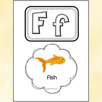"""Alphabet Letter of the Week """"Letter F"""" (Alphabet Worksheets)"""