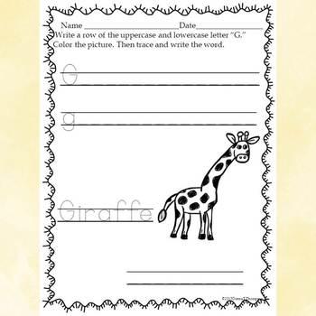 "Alphabet Letter of the Week ""Letter G"" (Alphabet Worksheets)"