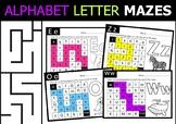 ALPHABET LETTER MAZE For Kindergarten and Pre-K
