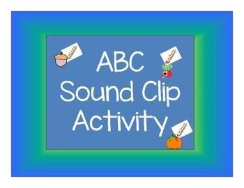 ALPHABET LETTER/SOUND CLIP IT CENTER ACTIVITY