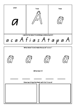 ALPHABET LETTERS AND SOUNDS LEARNING in Queensland Font