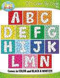 ALPHABET UPPERCASE LETTERS Color By Code Clipart {Zip-A-Dee-Doo-Dah Designs}