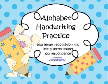 ALPHABET Tracing Handwriting Printing Practice No Prep
