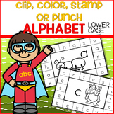 ALPHABET Lower Case - Clip, Color, Stamp or Punch Cards