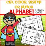 ALPHABET Lower Case - Clip, Color, Stamp or Punch Cards