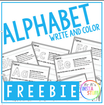 ALPHABET MATCH + COLOR // LITERACY FOCUS  // FREEBIE // A, B and  C INCLUDED