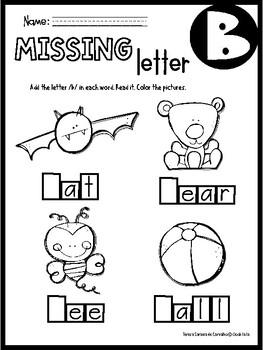 ALPHABET - MISSING LETTERS