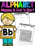 ALPHABET: Mazes & Cut 'n Sort