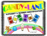 ALPHABET & NUMBER IDENTIFICATION CANDY-LAND GAME CARDS