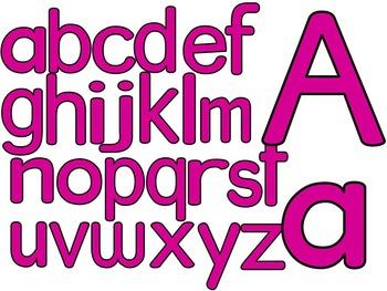 SIMPLY PINK-ALPHABET, NUMBERS, SYMBOLS & FRAMES CLIP ART- (100 IMAGES)