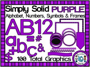 SIMPLY PURPLE-ALPHABET, NUMBERS, SYMBOLS & FRAMES CLIP ART