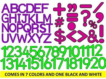 BUNDLE- SIMPLY SOLID-LETTERS, NUMBERS, SYMBOLS & FRAMES CLIP ART- (807 IMAGES)